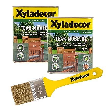 Xyladecor Teakmobel Ol Farbton Teak 1 5 L Inkl Pinsel Holz