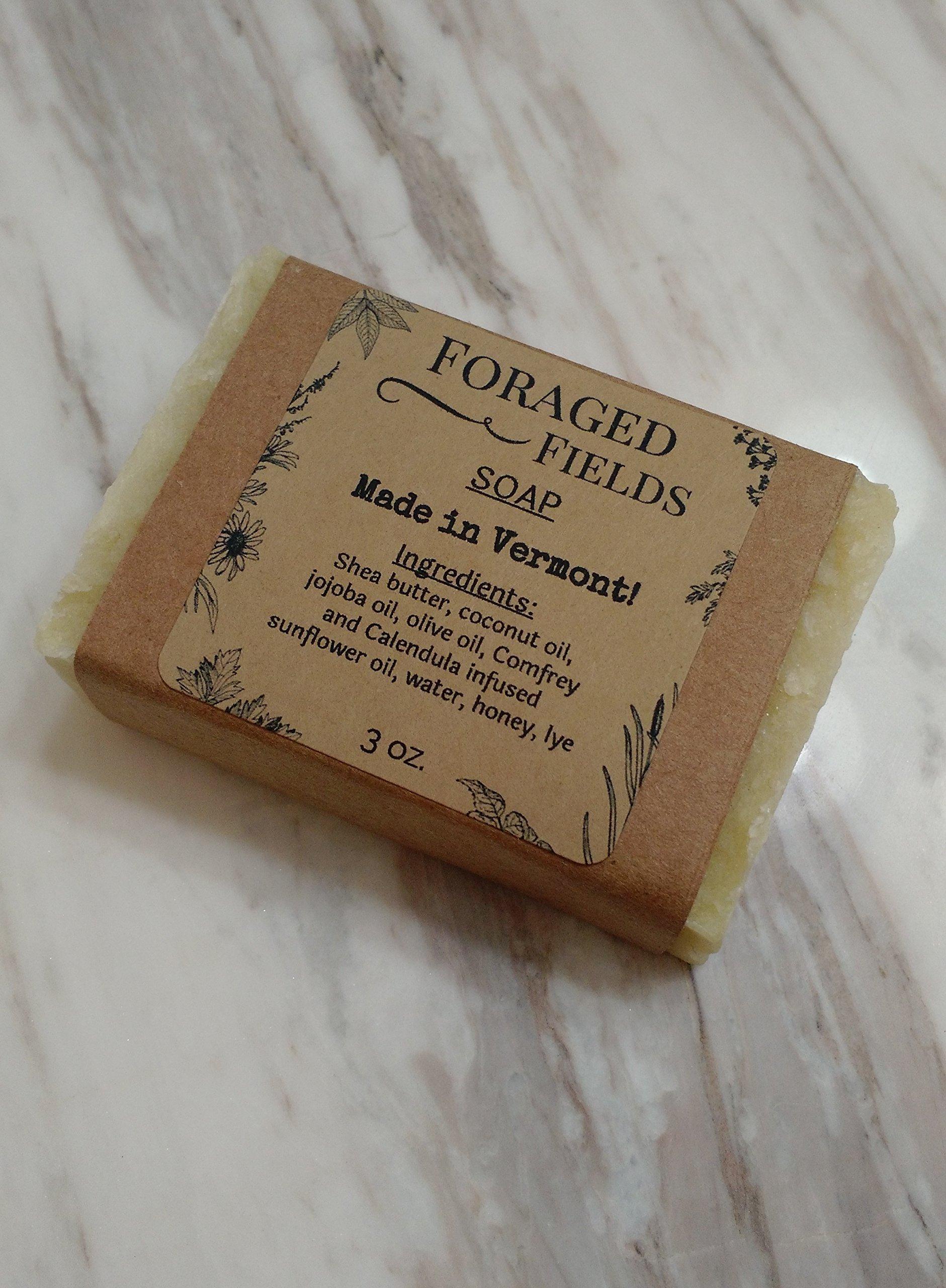 Unscented Hot Process Natural Soap with Calendula and Comfrey