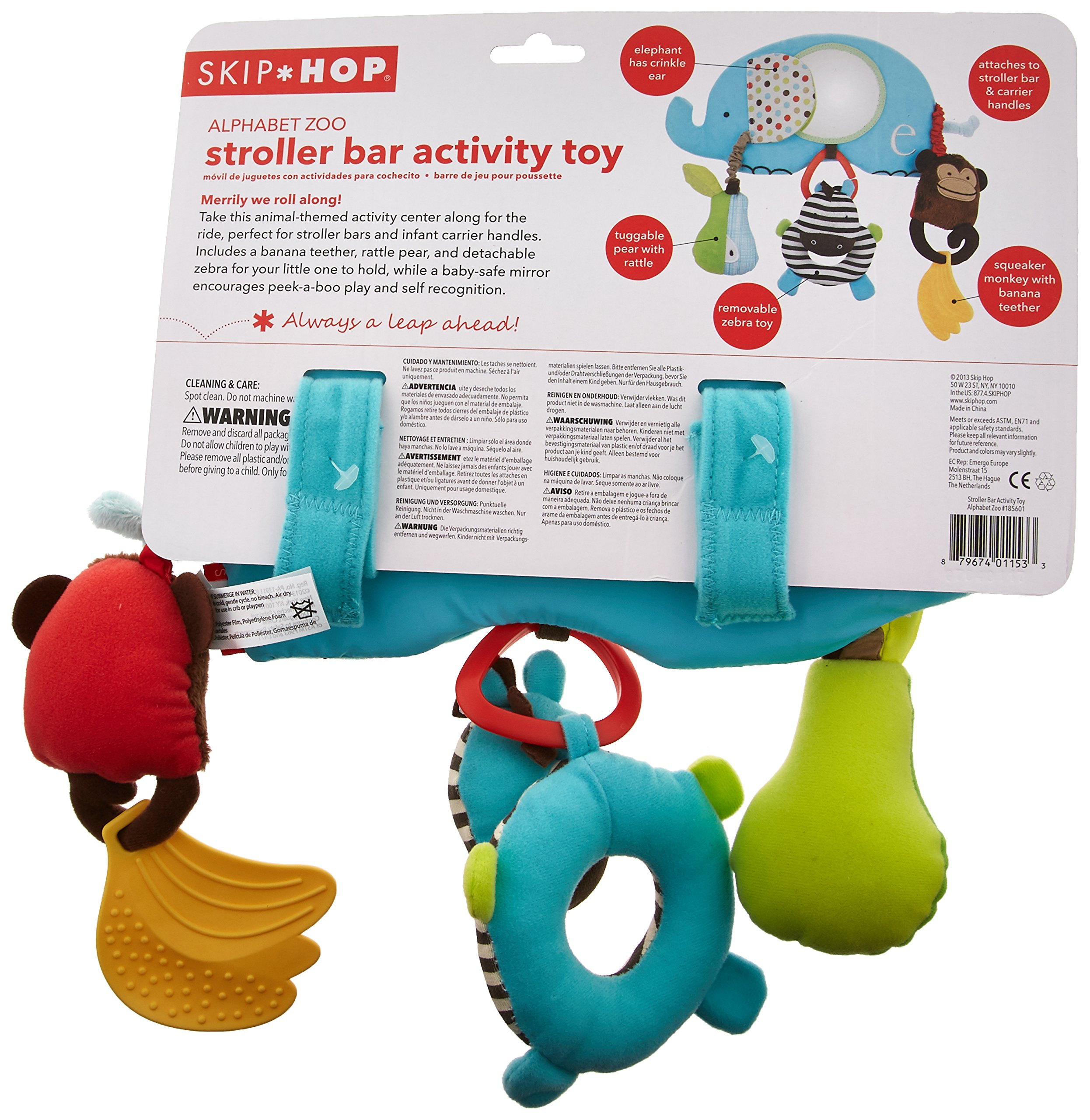 Skip Hop Alphabet Zoo Stroller Bar Activity Toy, Multi by Skip Hop (Image #3)