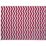 Rv Mat Patio Rug Chevron Pattern 9x16 Dark Red/Gray