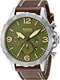Fossil Men's JR1508 Nate Chronograph Brown Leather Watch
