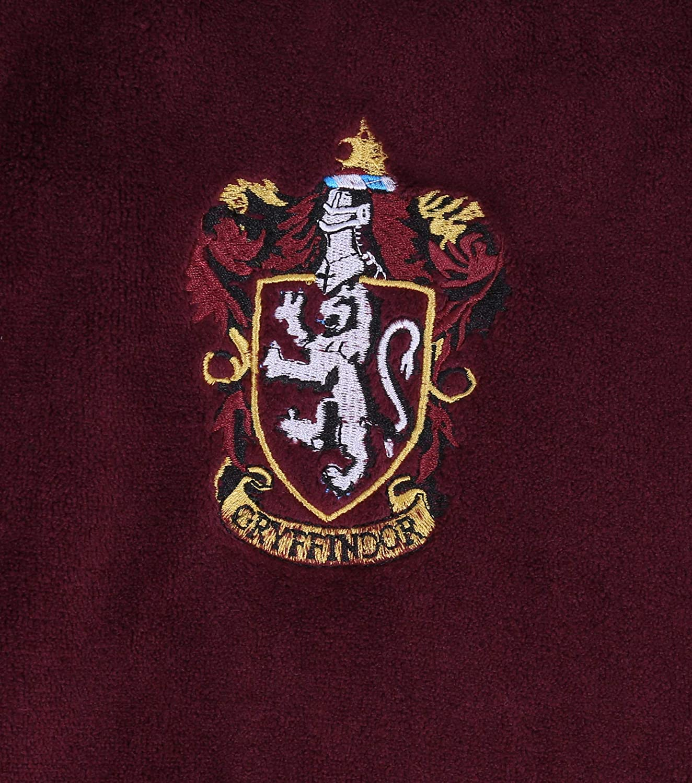 Harry Potter Hogwarts Grifondoro Accappatoio da Uomo Bordo