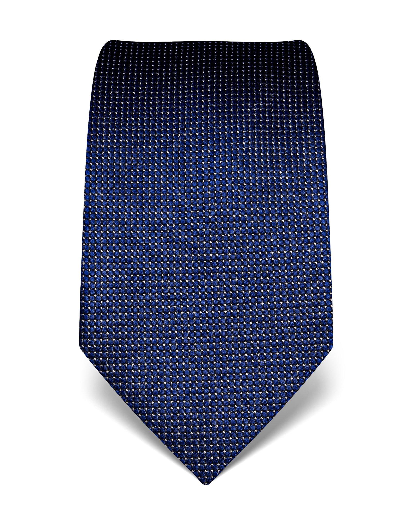 Vincenzo Boretti Men's silk tie polka dot pattern dark blue