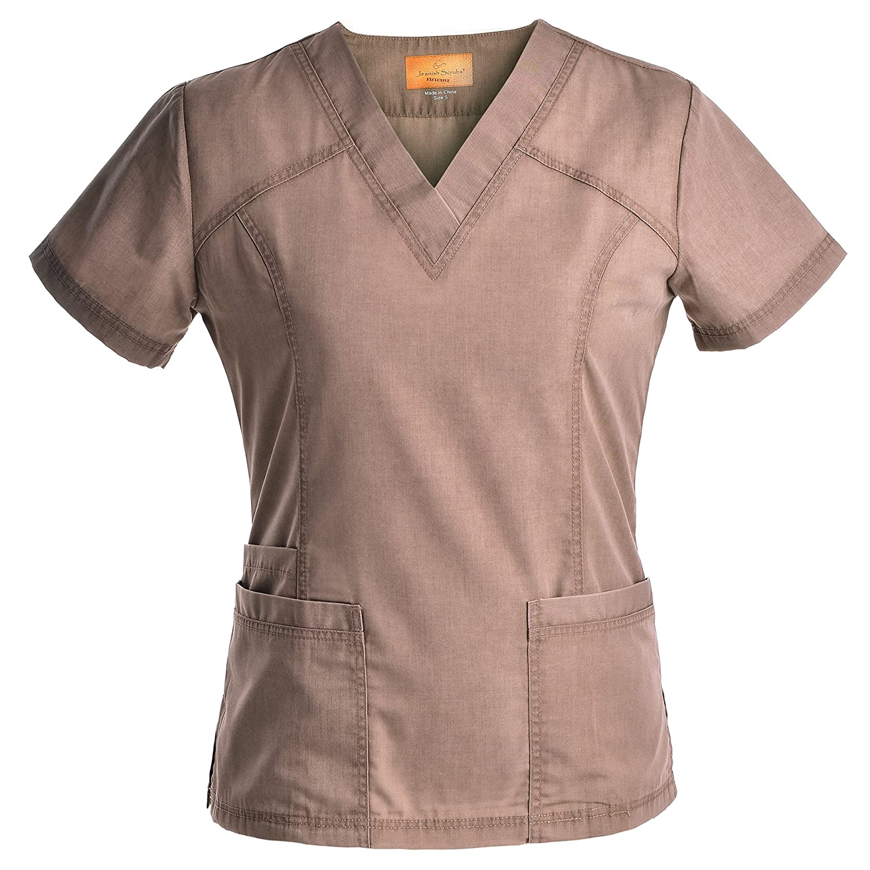 03539358ed6 Amazon.com: Jeanish V Neck Scrubs Set Superior Softness Washed Lady Women  Scrubs Medical Uniforms Top and Pants JS1605: Clothing