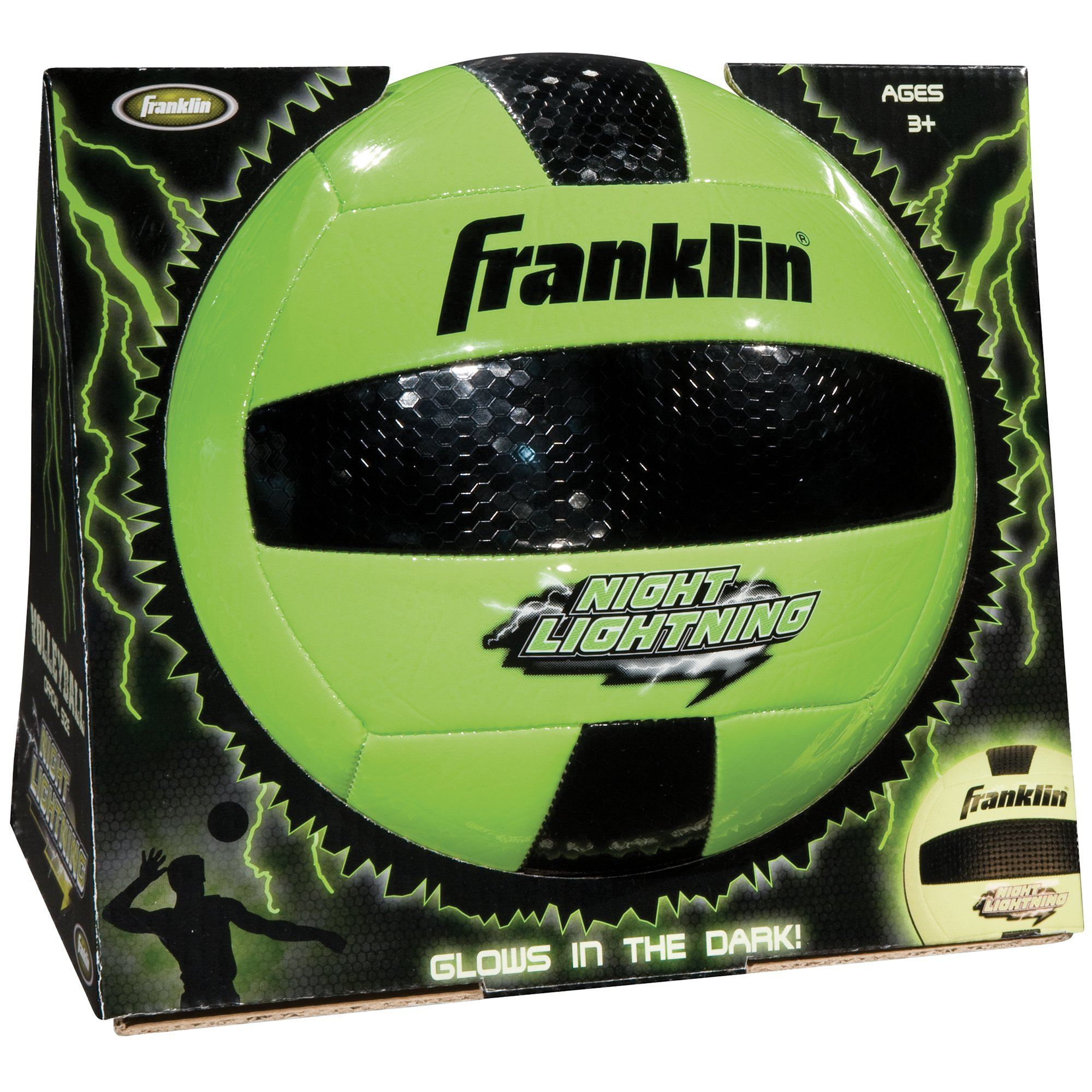 Franklin Sports Night Lightning Volleyball (Official Size)