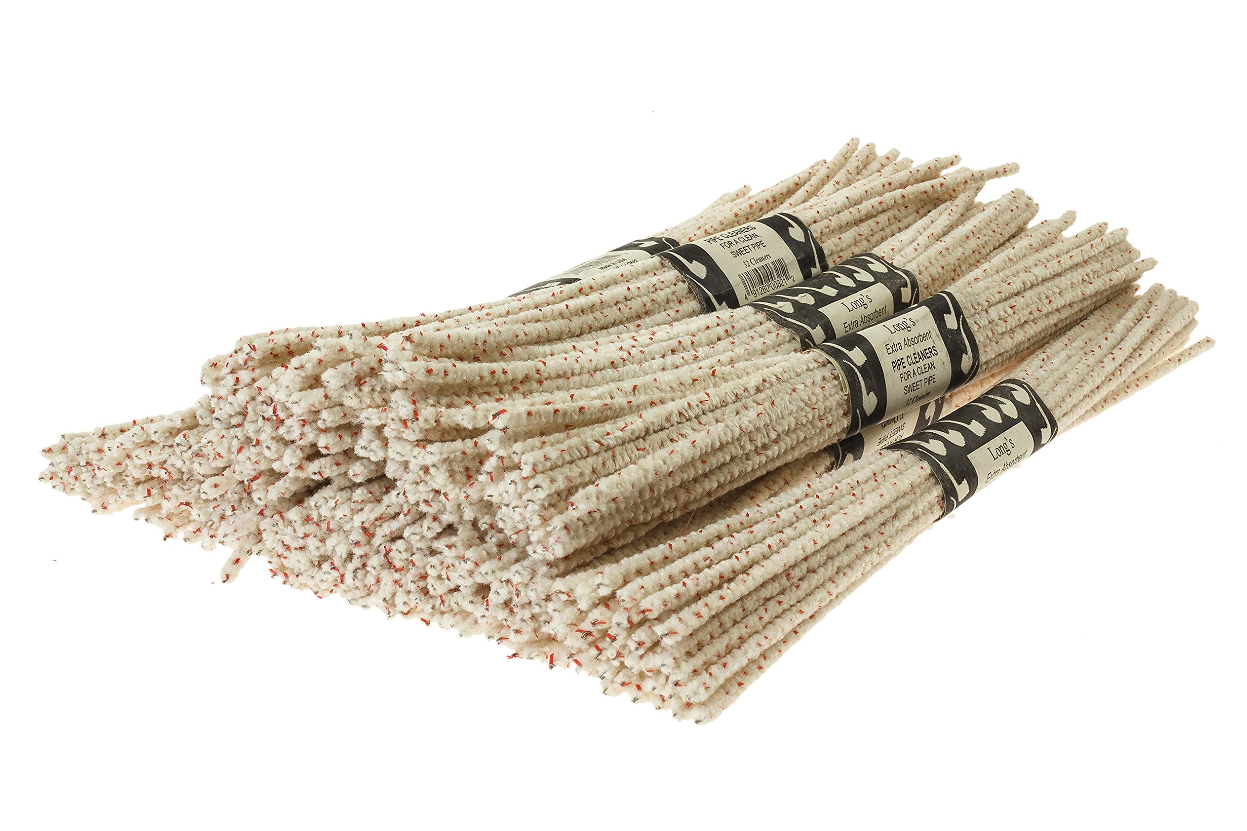 BJ Long Extra Absorbent Bristle Pipe Cleaners 12 Inch - 12 Pack TP-1438