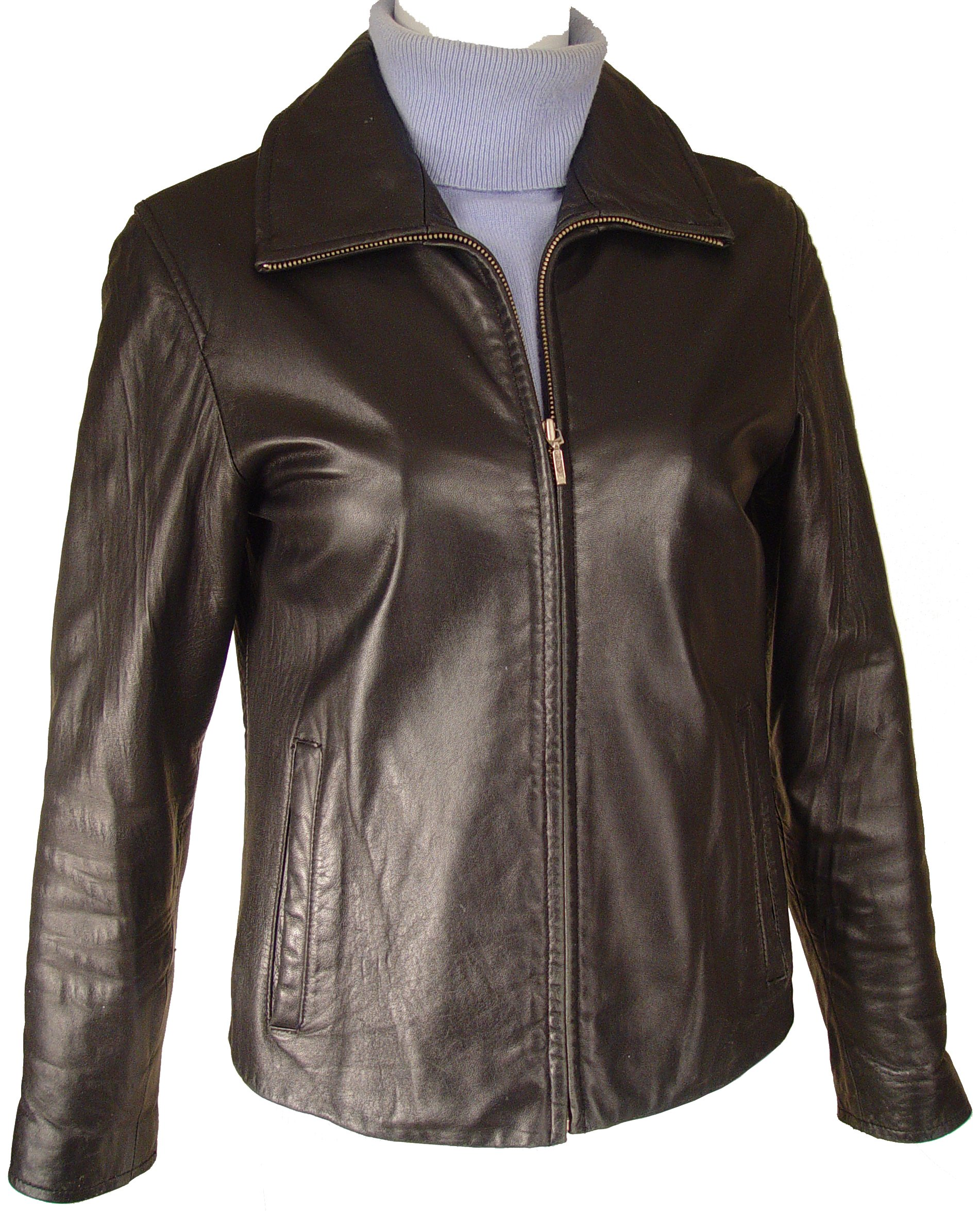Paccilo Women 4016 PETITE & ALL SIZELamb Scuba Leather Jacket by Paccilo (Image #5)