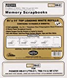 Pioneer Photo Albums RW85 8.5 in. x 11 in. Universal Top Loading Memory Sheet Protector Refill