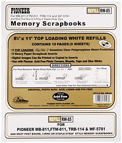 Amazon Pioneer Photo Albums Rw85 85 X 11 White Top Loading