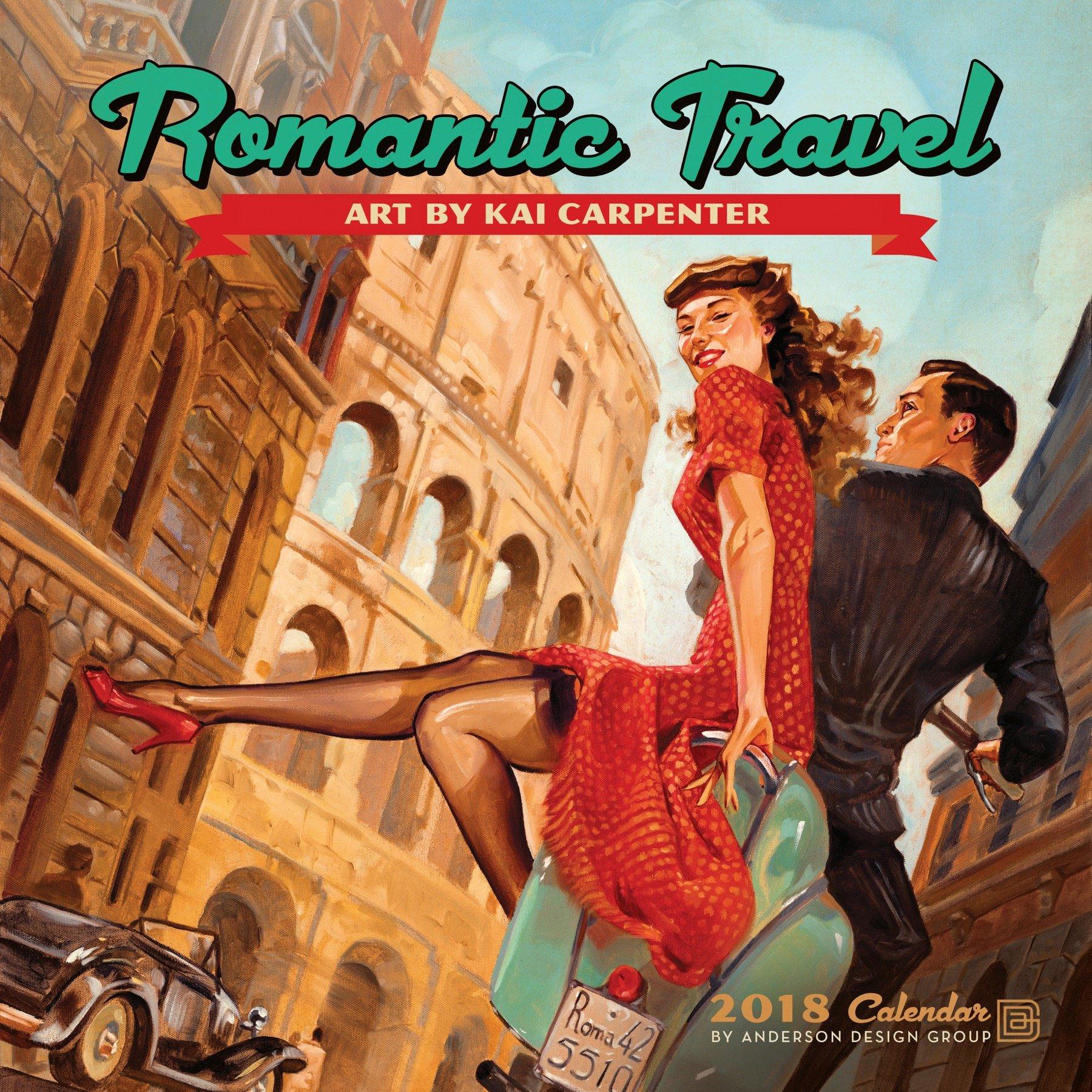 Download Romantic Travel 2018 Wall Calendar pdf