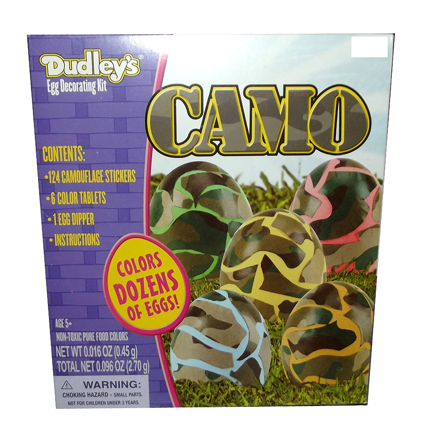 Amazon.com : Dudley\'s Camouflage Easter Egg Coloring Kit - Colors ...