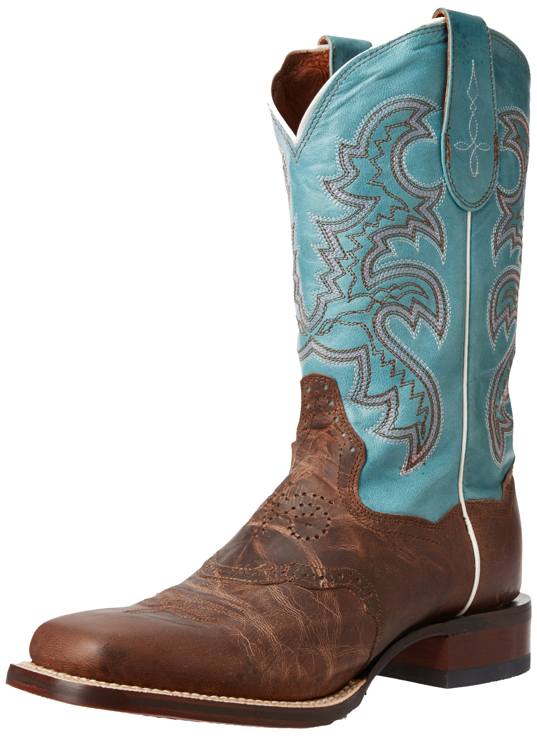 Dan Post Women's San Michelle Western Boot,Sand/Blue,8.5 M US