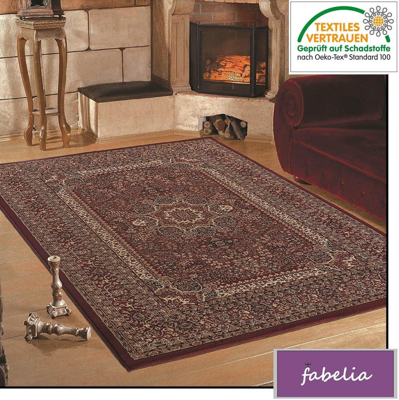Fabelia Orient Teppich Kollektion Marrakesh - Orientalisch-europäische Designs klassisch und modern (240 x 340 cm, Granada Rot 0207)