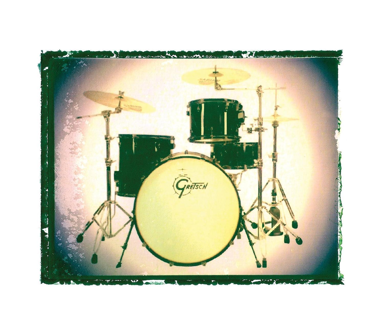 Amazon.com: Drummer gift Gretsch drum set music print / drummer Gift ...