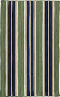product image for Colonial Mills Mesa Stripe Braided Rug, 4' X 6' , Harbor Green