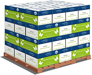 product image for Hammermill Premium Laser Print 24lb Copy Paper, 8.5x11, 32 Case Pallet, 128,000 Sheets, Made in USA, Sourced From American Family Tree Farms, 98 Bright, Acid Free, Laser Printer Paper, 104604P