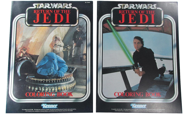 Coloring Books 1983 Vintage Star Wars Kenner Pair Luke Skywalker and Max Rebo Band