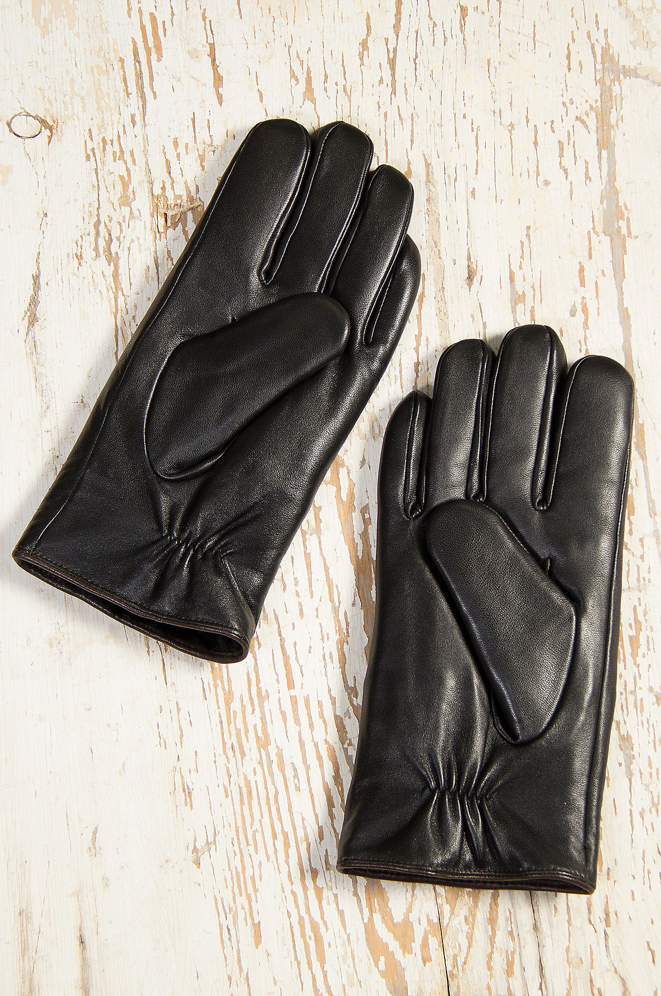 Men's Premium Lambskin Leather Gloves with Shearling Lining by Overland Sheepskin Co (Image #4)