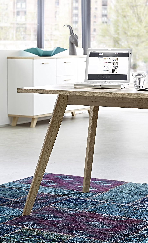Schön Schreibtisch Oslo Ideen Von Germania 4058-221 Mit Integriertem Sideboard Im Skandinavischen