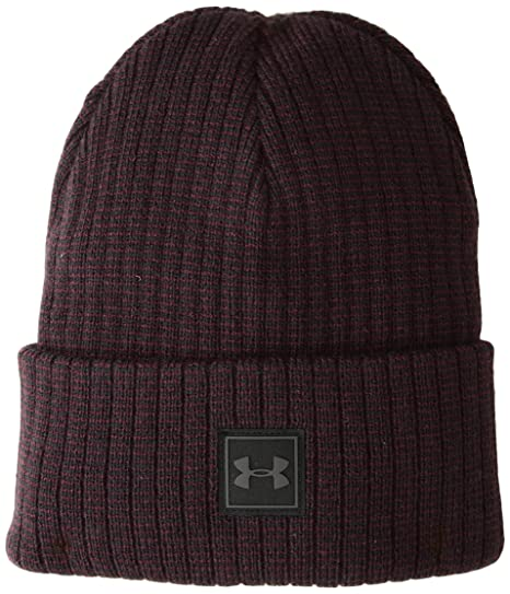 861ee046a6123b Under Armour Men's Truckstop Beanie 2.0, Dark Maroon (600)/Black, One