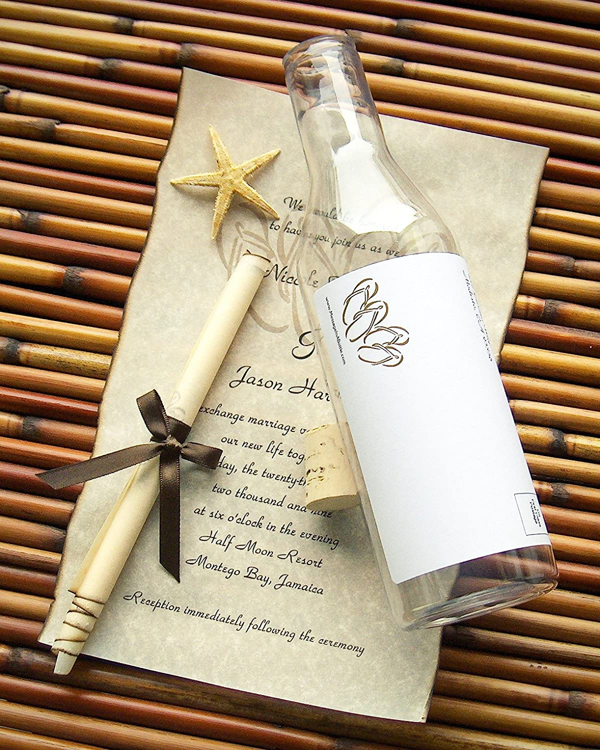 Amazoncom Message In A Bottle Destination Wedding Invitation