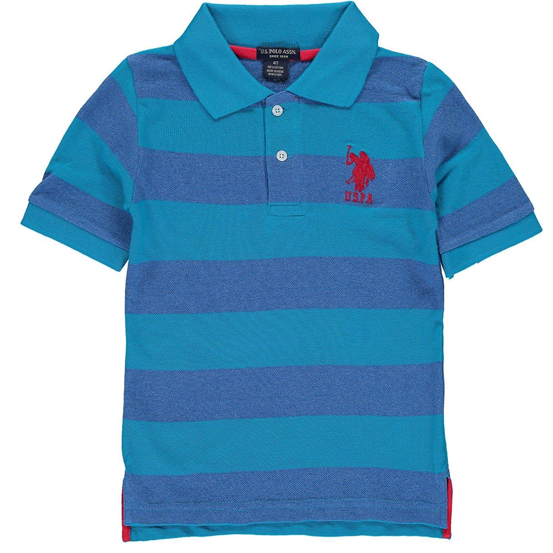 Amazon Us Polo Assn Little Boys Yarn Dyed Striped Polo