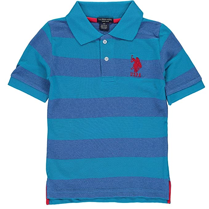24972fa8b Amazon.com  U.S. Polo Assn. Little Boys  Yarn Dyed Striped Polo ...
