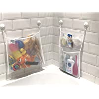 Scarlet Gem Bath Tidy Storage – Premium Toy Tidy Organiser Net Bags with Multiple Pockets and Strong Suction Cups