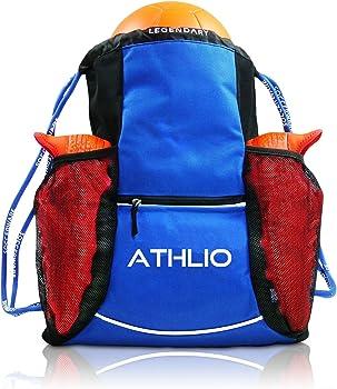 ATHLIO Waterproof Drawstring Soccer Backpack