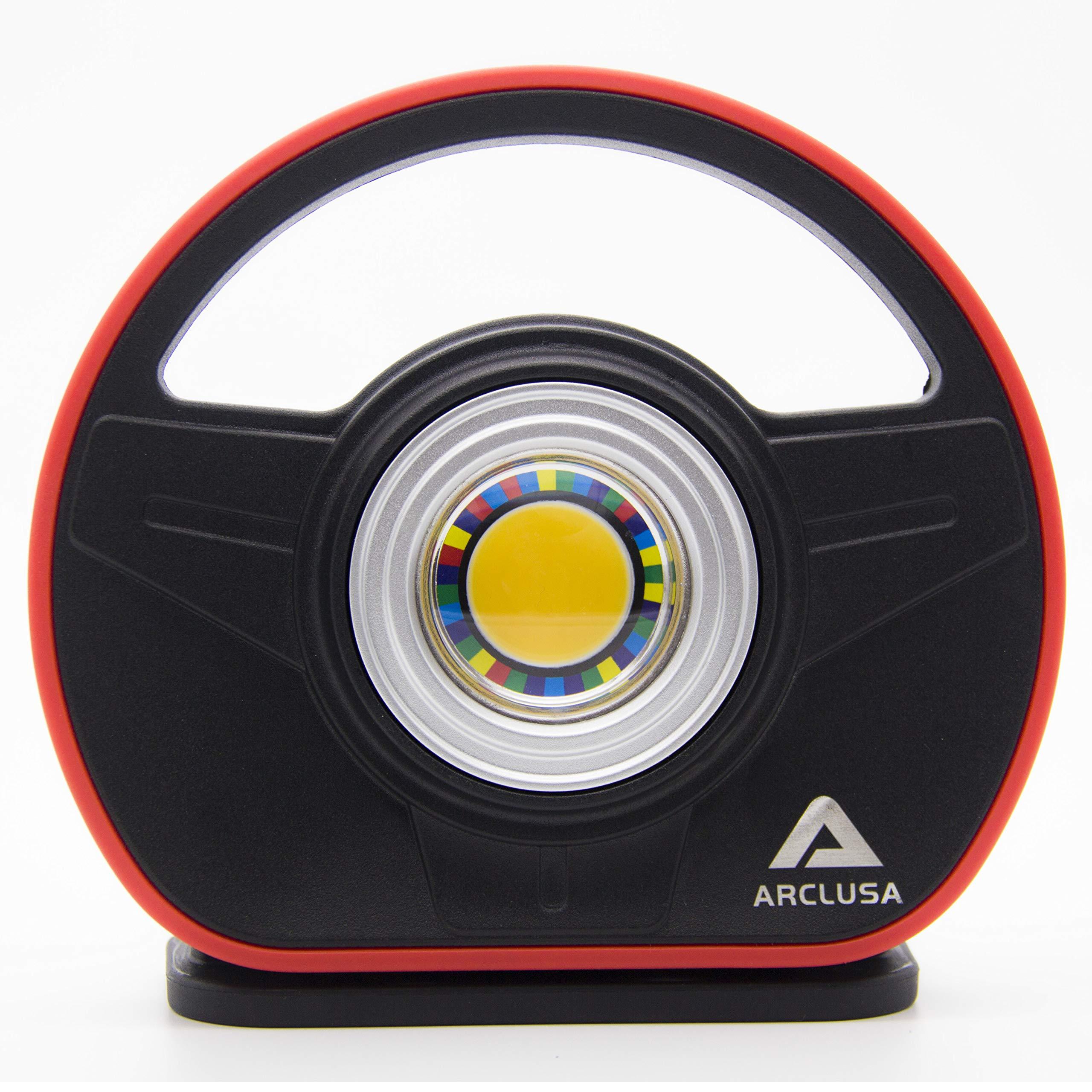 Arclusa COB LED Rechargeable Sunlight Color Match Paint Work Light Adjustable Holder Magnet Bottom Flood Light(1000 Lumen Color Match) by Arclusa (Image #4)