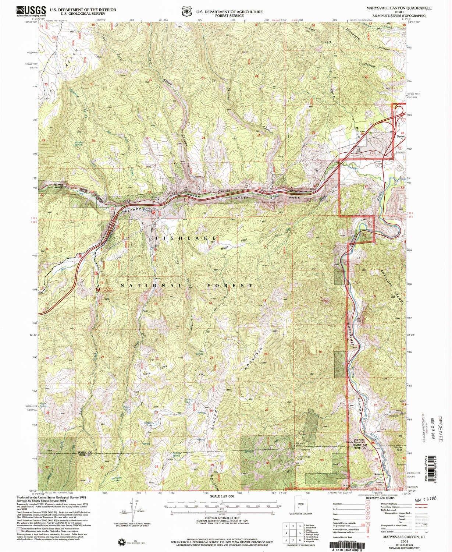 Marysvale Utah Map.Amazon Com Yellowmaps Marysvale Canyon Ut Topo Map 1 24000 Scale