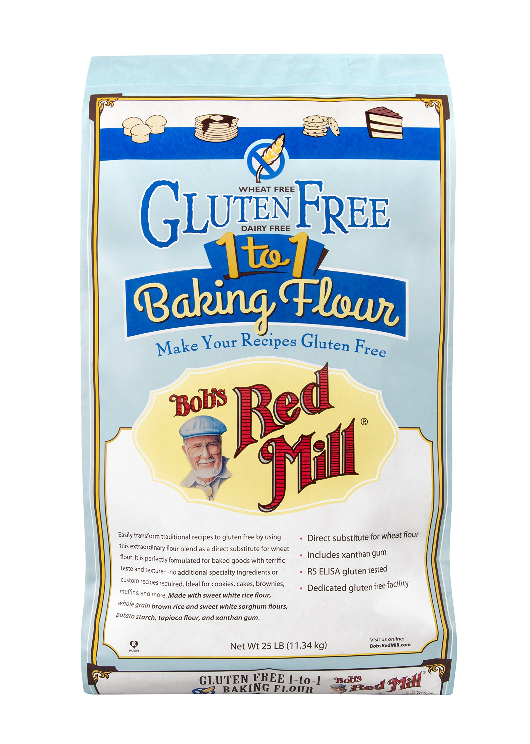 Bob's Red Mill Gluten Free 1-to-1 Baking Flour, 25 Pound by Bob's Red Mill