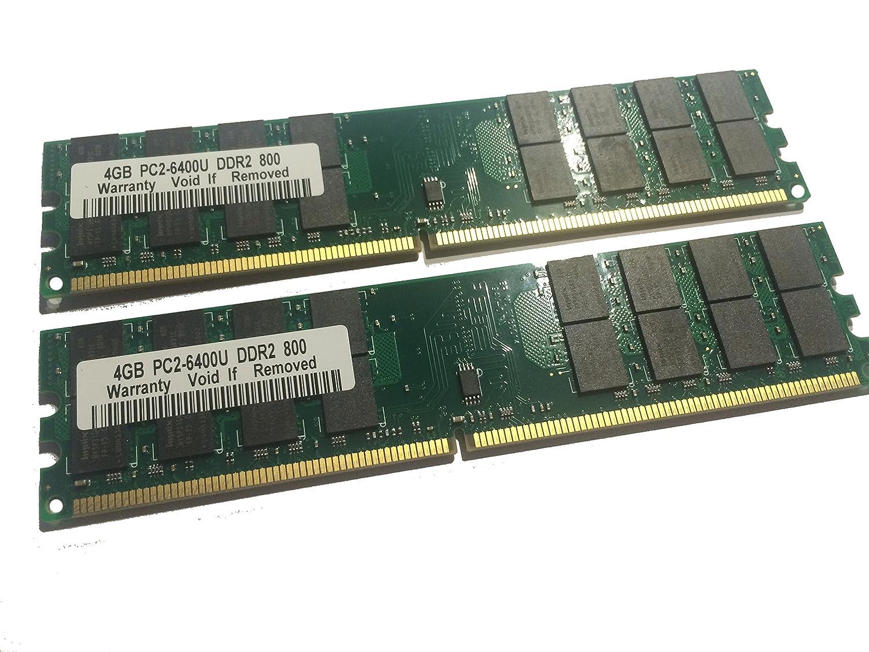 8GB DDR2 800MHz - 2x 4GB Kit - PC2-6400 RAM Speicher PC Speicher PC6400 240pin - kompatibel zu 533/667MHz / fü r AMD und VIA *nicht kompatibel zu Intel* Siquell
