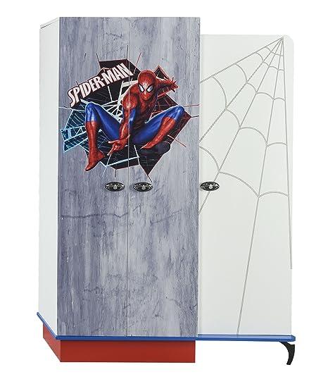 Armoire enfant à 3 portes design spiderman marvel coloris ...