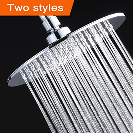 Albustar Luxury Rainfall Shower Head With High Pressure And Spa Experience,  Polished Chrome, Easy