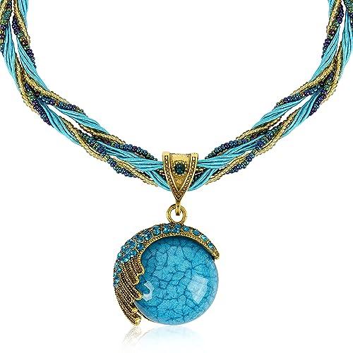 Antique jewellery amazon handmade antique retro dream half moon necklace vintage costume statement jewellery aloadofball Images