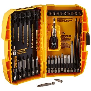 DEWALT Screwdriver Bit Set / Drill Bit Set, Magnetic, Rapid Load, 35-Piece (DW2530)
