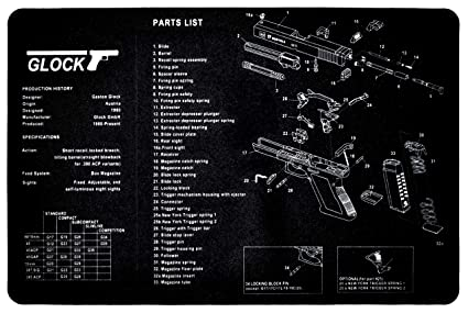 amazon com sniper grunt glock cleaning mat with glock parts Glock 27 Parts Diagram image unavailable