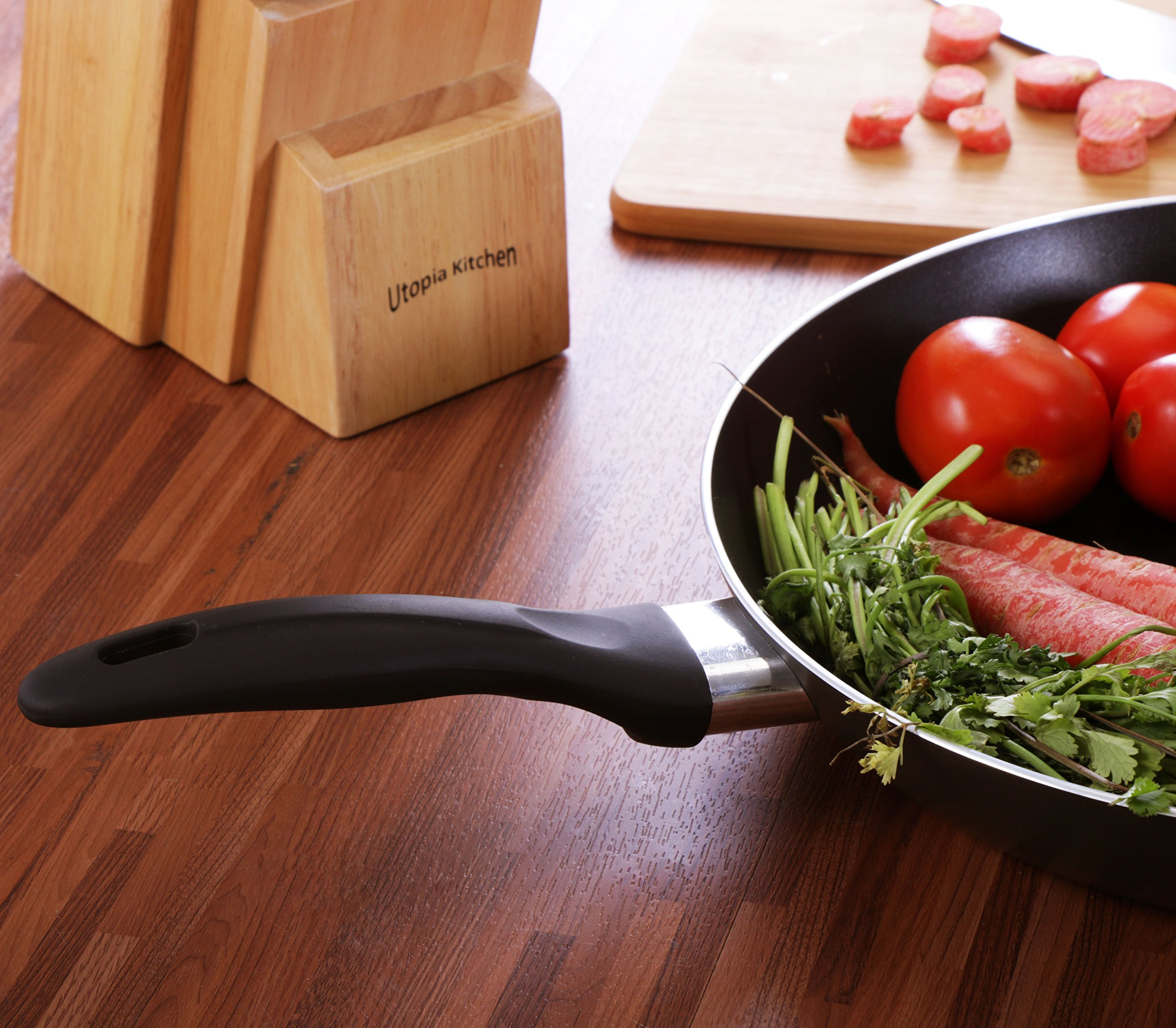 Induction Bottom Aluminum Nonstick Frying-Pan Grey Fry Pan - 11 inches Dishwasher Safe Cookware - by Utopia Kitchen by Utopia Kitchen (Image #6)