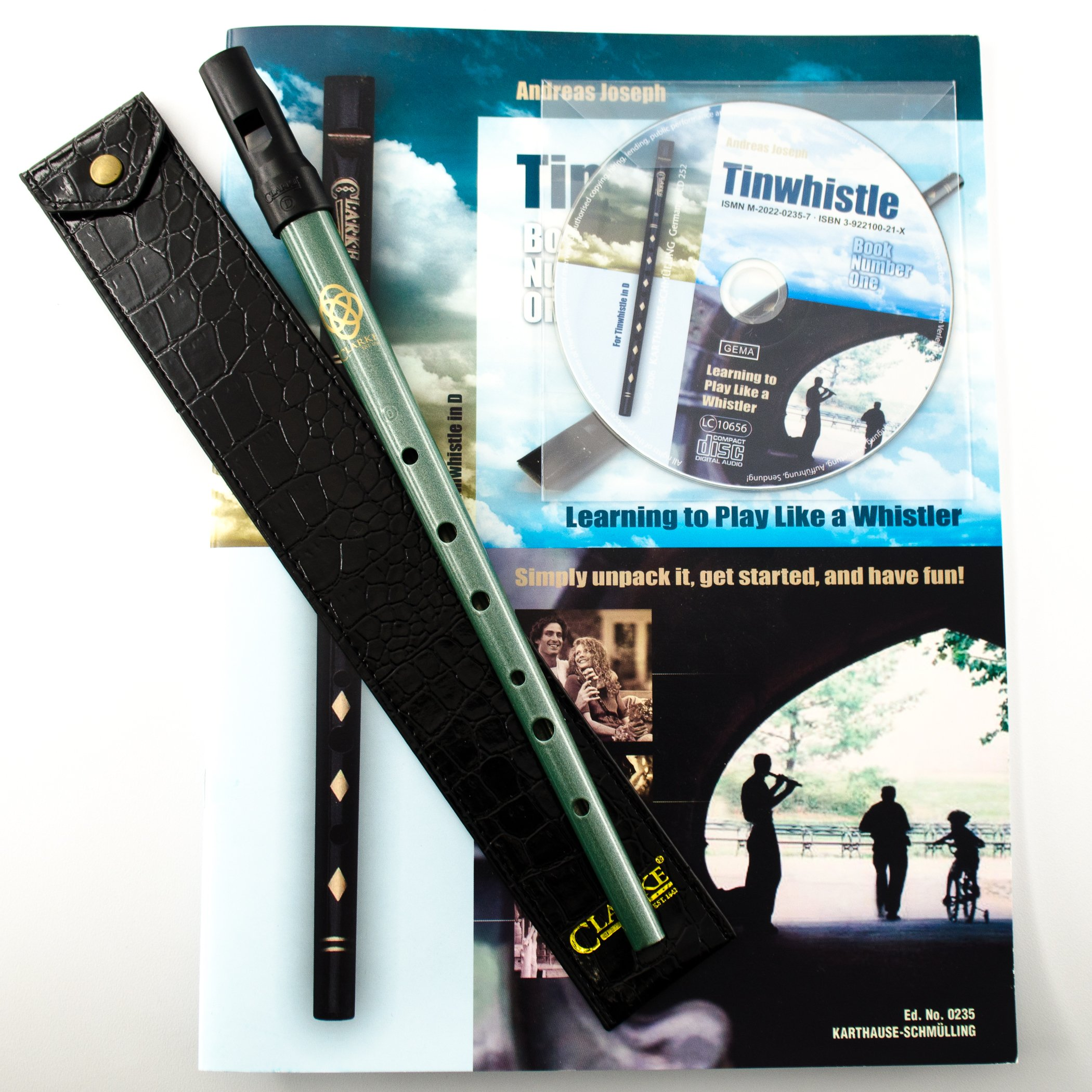 Clarke Celtic Tinwhistle Value Bundle with Tinwhistle, Pouch, Book and CD by Clarke (Image #1)