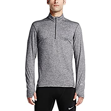 Nike Dry Element Men's Half-Zip Long Sleeve Running Top Dark Grey/Heather