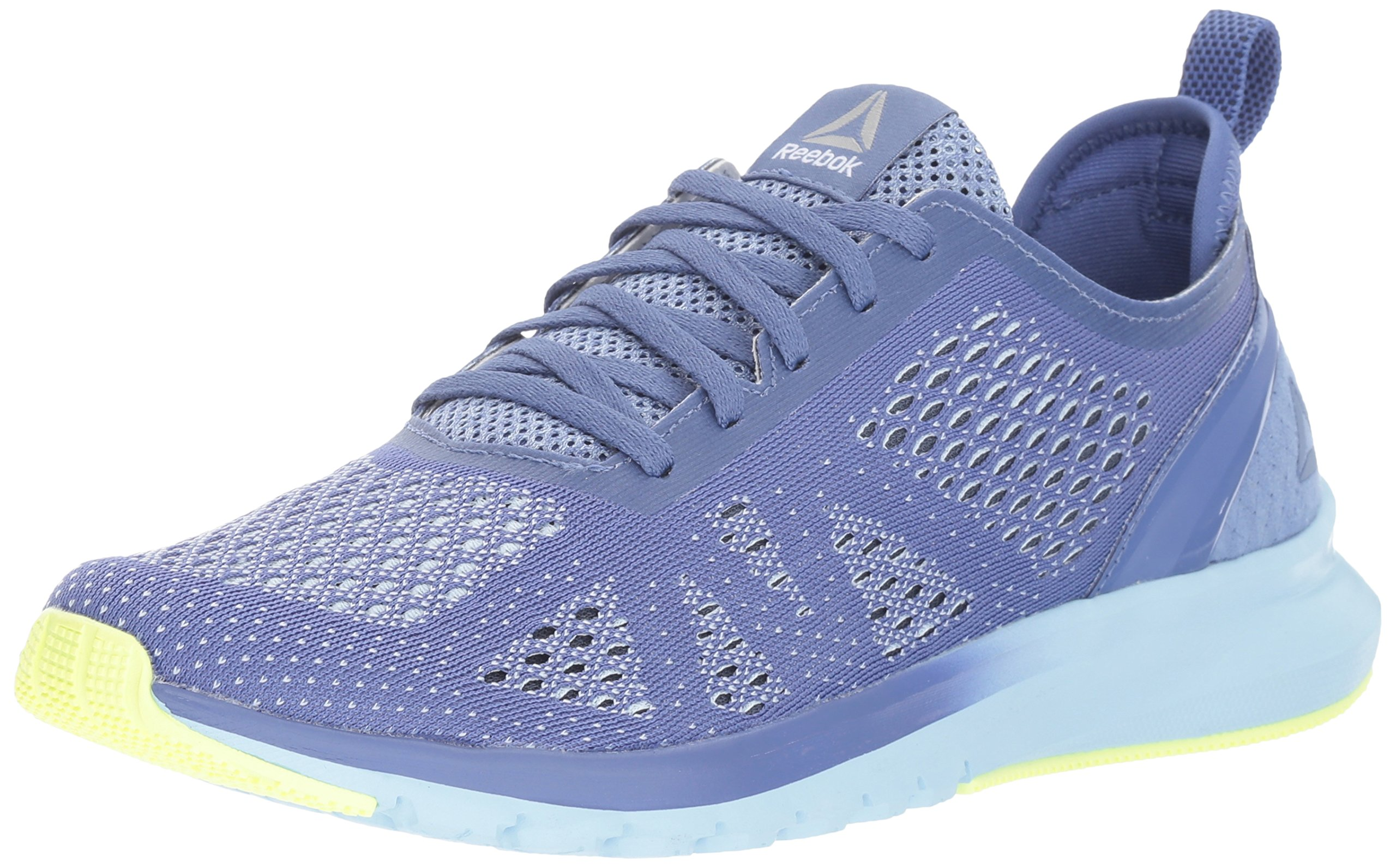 Reebok Women's Print Smooth Clip Ultk Track Shoe, lilac shadow/fresh blue/electric flash/white/smoky indigo, 9.5 M US