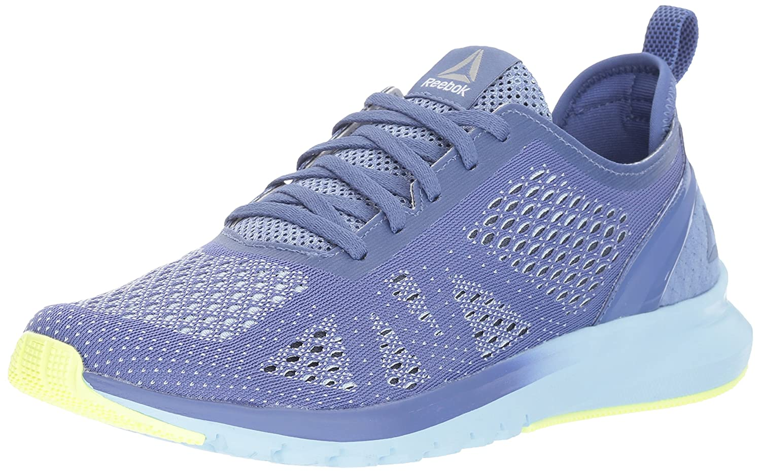 Reebok Women's Print Smooth Clip Ultk Track Shoe B01MS430K3 10.5 B(M) US|Lilac Shadow/Fresh Blue/Electric Flash/White/Smoky Indigo