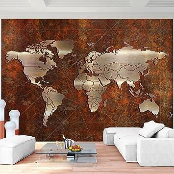 Fototapeten Weltkarte 352 x 250 cm Vlies Wand Tapete Wohnzimmer ...