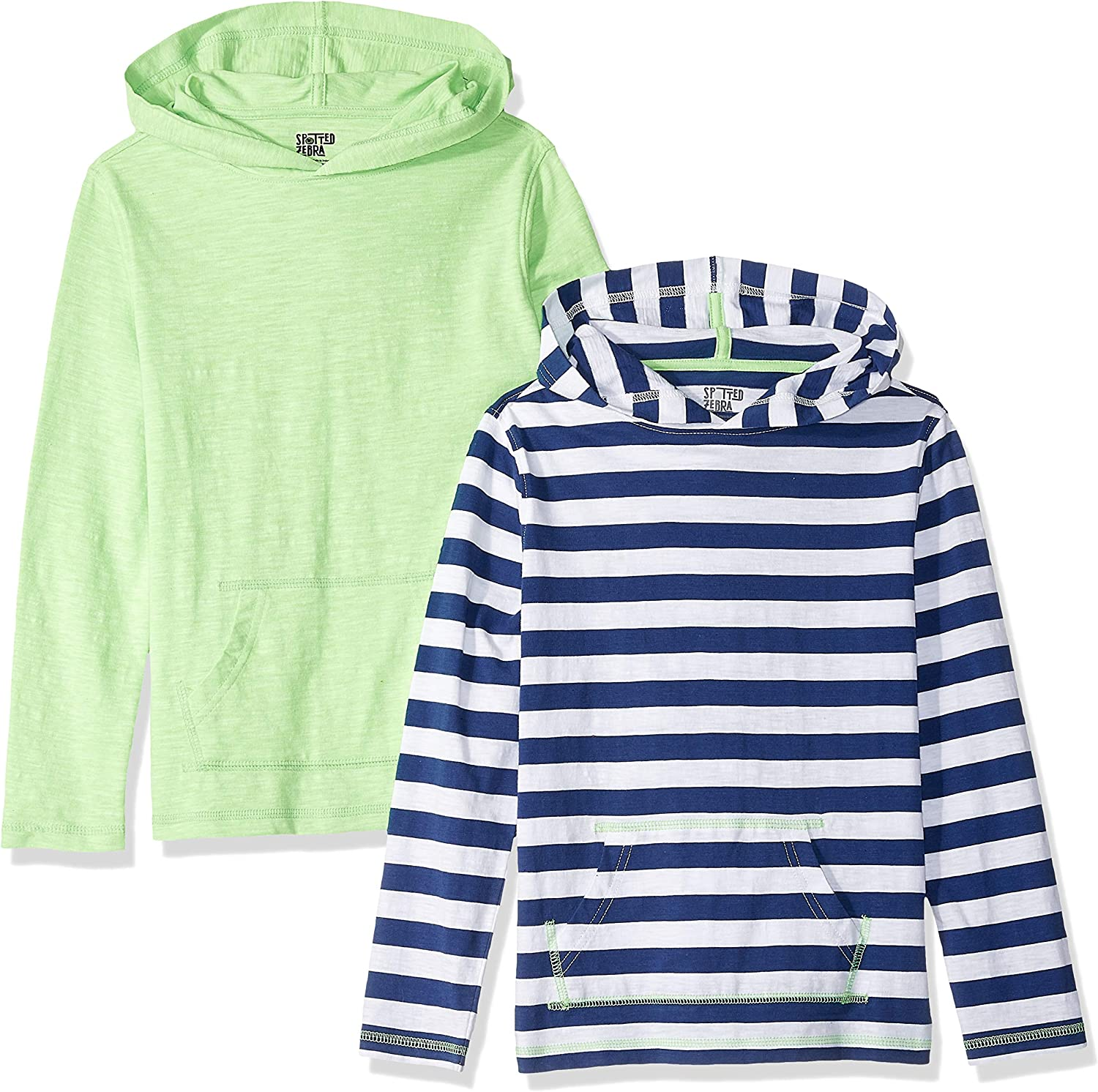 Brand - Spotted Zebra Boys Light-Weight Hooded Long-Sleeve T-Shirts: Clothing