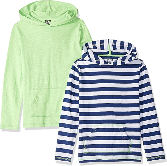 Marca Amazon - Spotted Zebra 2-Pack Hooded Long-Sleeve T-Shirts Niños: Amazon.es: Ropa y accesorios