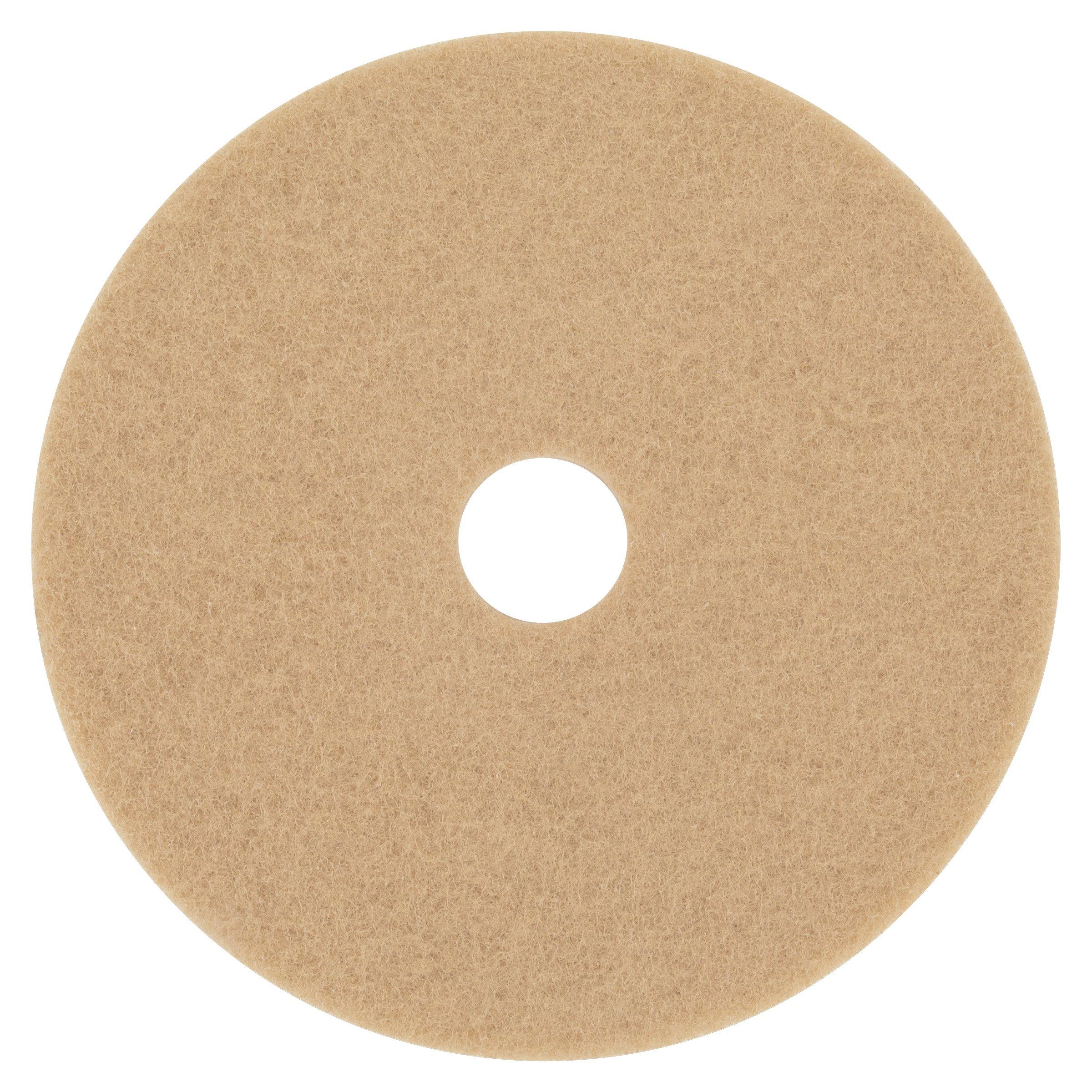 3M 05606 Ultra High-Speed Floor Burnishing Pads 3400, 20'' Diameter, Tan (Case of 5)