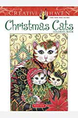 Creative Haven Christmas Cats Coloring Book (Creative Haven Coloring Books) Paperback