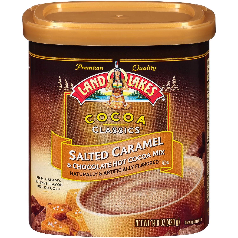 Land O Lakes Cocoa Classics, Salted Caramel & Chocolate Hot Cocoa Mix, 14.8-Ounce Canister