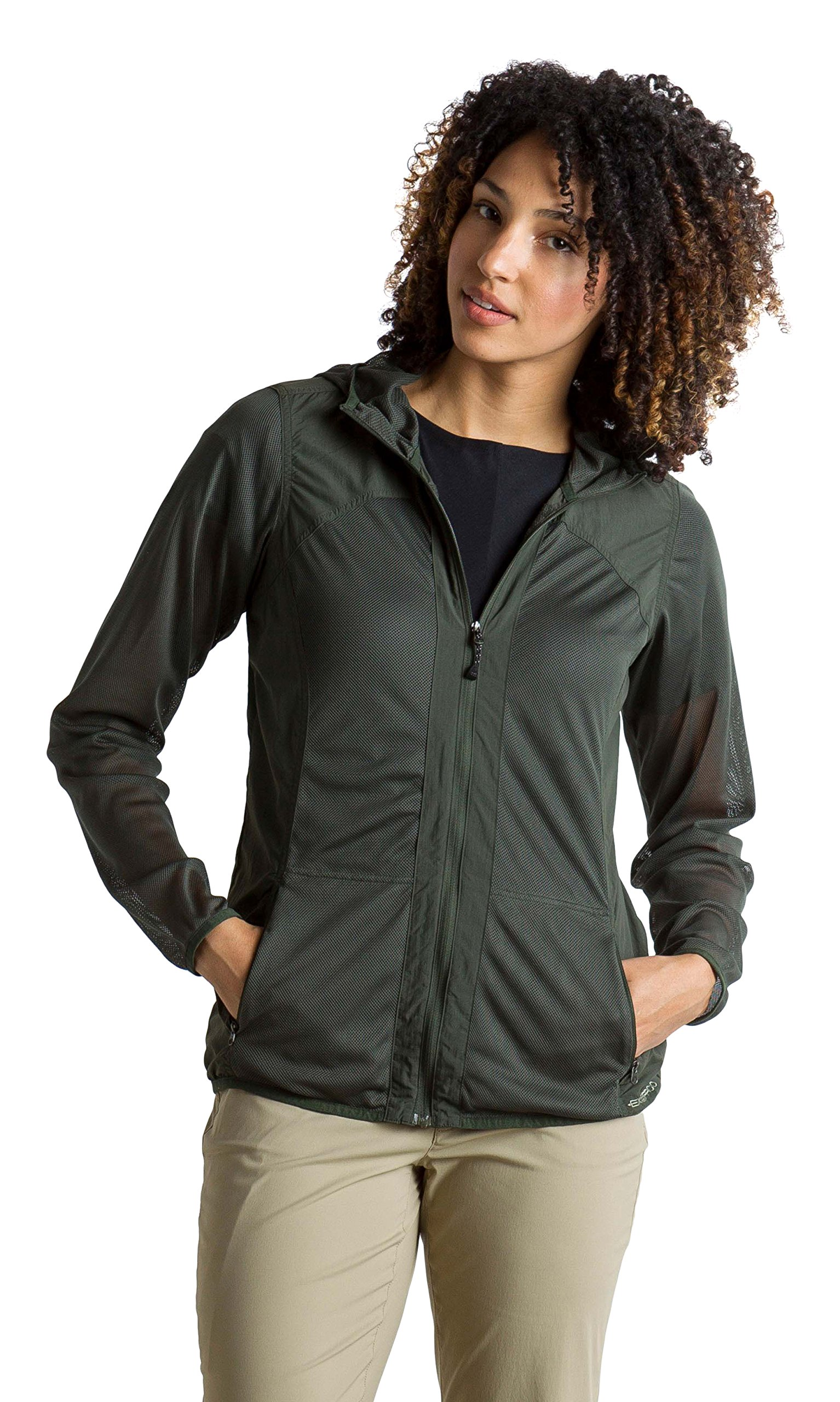 ExOfficio Women's BugsAway Damselfly Lightweight Hooded Jacket, Nordic, Medium